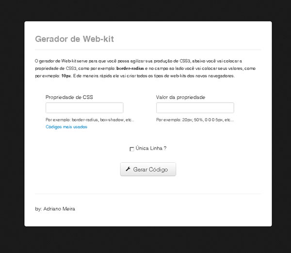 Gerador de Web kit
